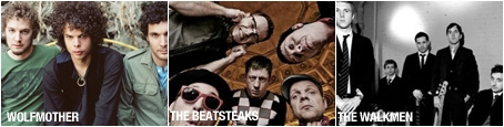 Wolfmother, Beatsteaks,The Walkmen