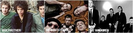 Wolfmother, Beatsteaks,The Walkmen