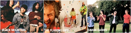 Black Mountain, The Flaming Lips, Simon Dawes