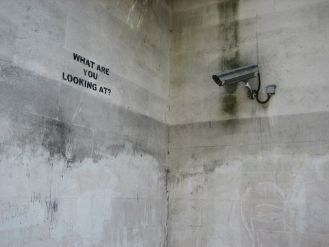 Banksy's Grafitti - What Are You Looking At?