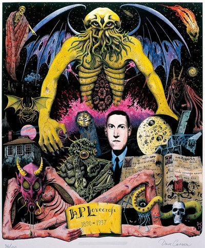 Howard Phillips Lovecraft (1890-1937): Dreamer of the Dark. Illustration: Dave Carson