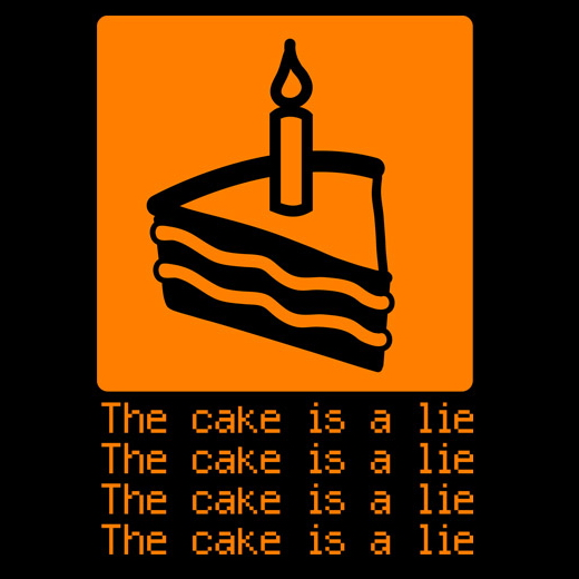 The Cake Is a Lie | Hic Sunt Dracones